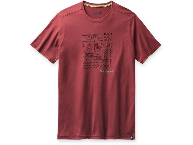 Smartwool Merino Sport 150 Shirt Park Vibes Graphic Men, rood